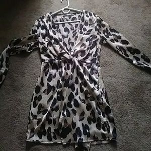 Missguided leopard wrap dress size 6